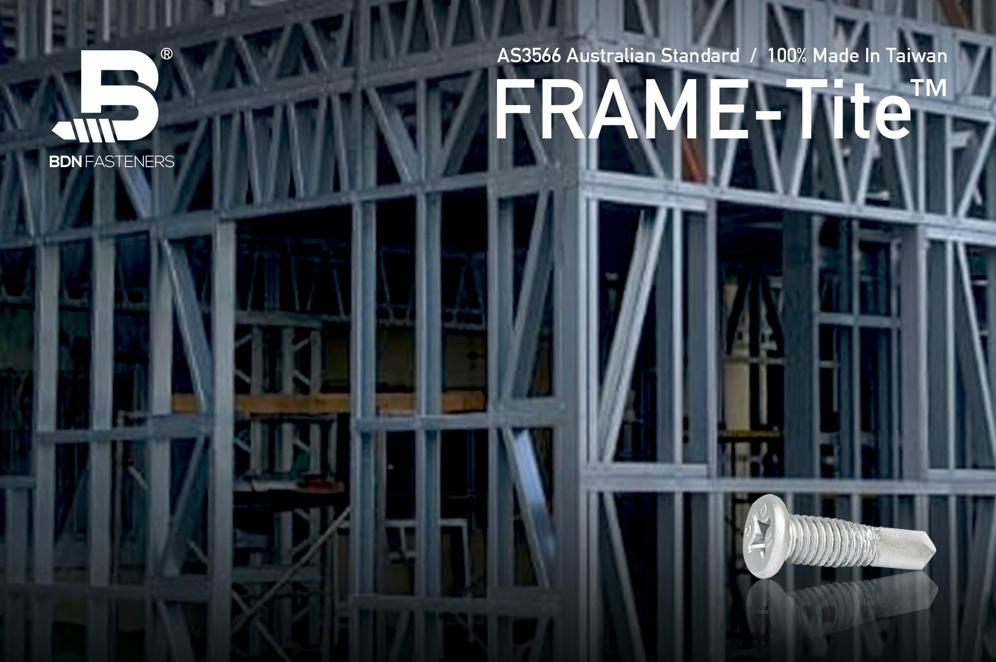 Frame Screw - FRAME-Tite™ Fixing to steel wall frames, BDN FASTENERS®