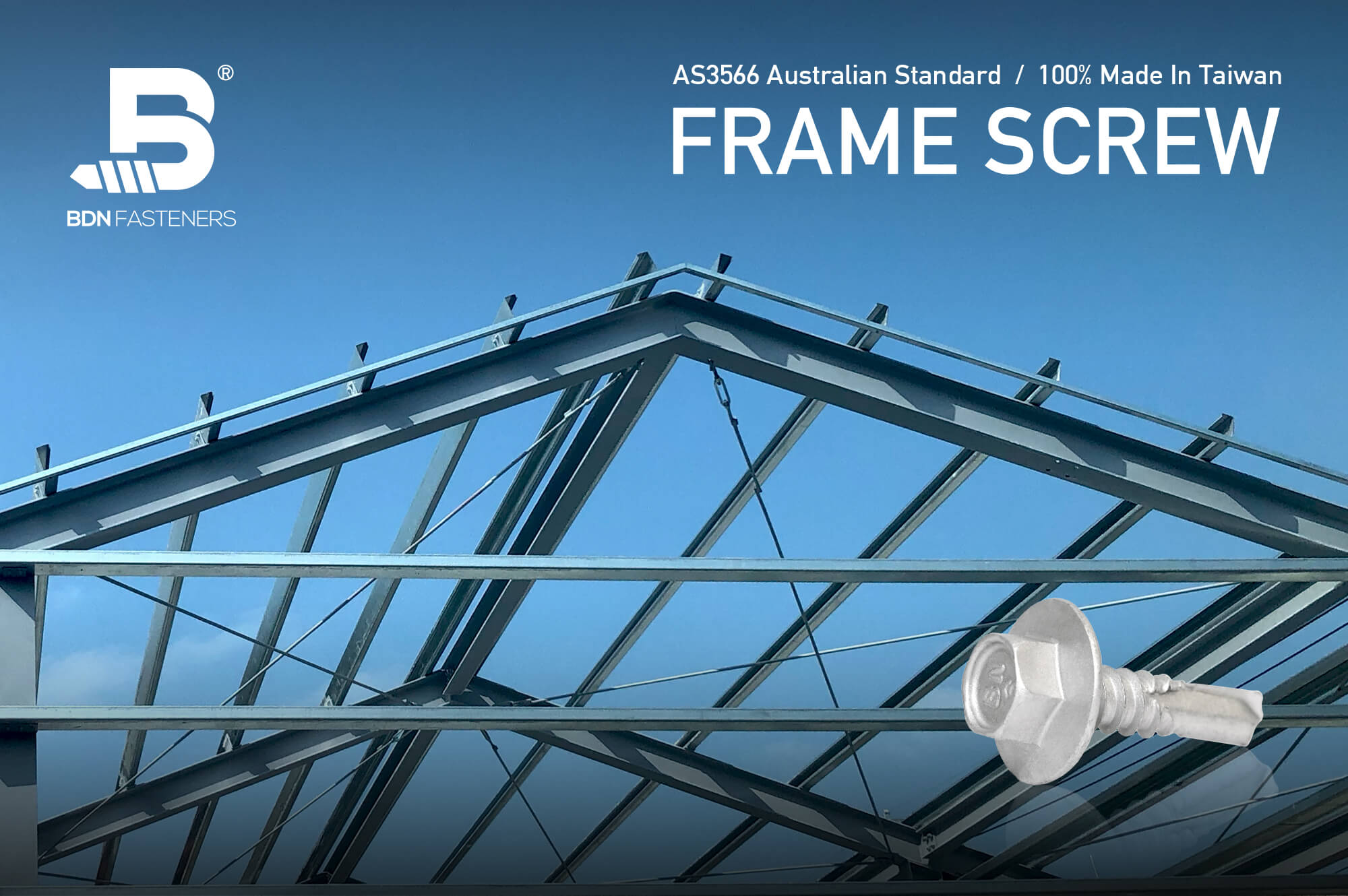 Frame Screw - METAL-Tite™ Truss to plate connection, BDN FASTENERS®