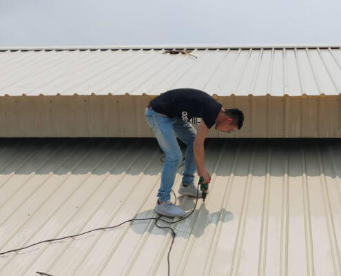 Metal Roofing Project