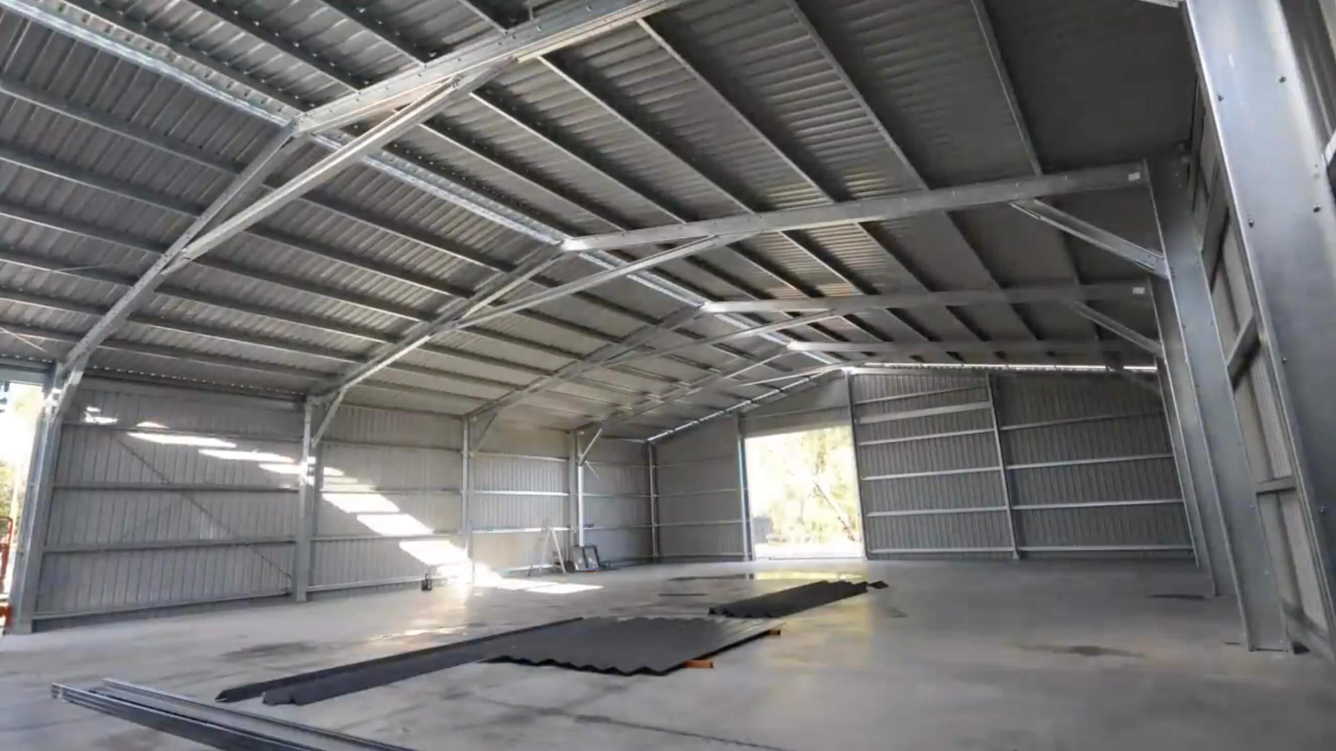 24m x 18m x 5m SHED in Australia - BDN Fasteners built using steel stud framing screws 2
