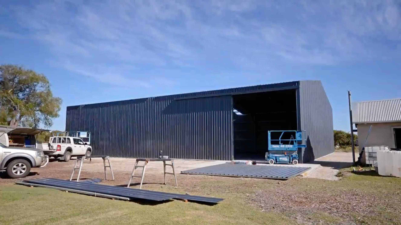 24m x 18m x 5m SHED in Australia - BDN Fasteners built using steel stud framing screws 1