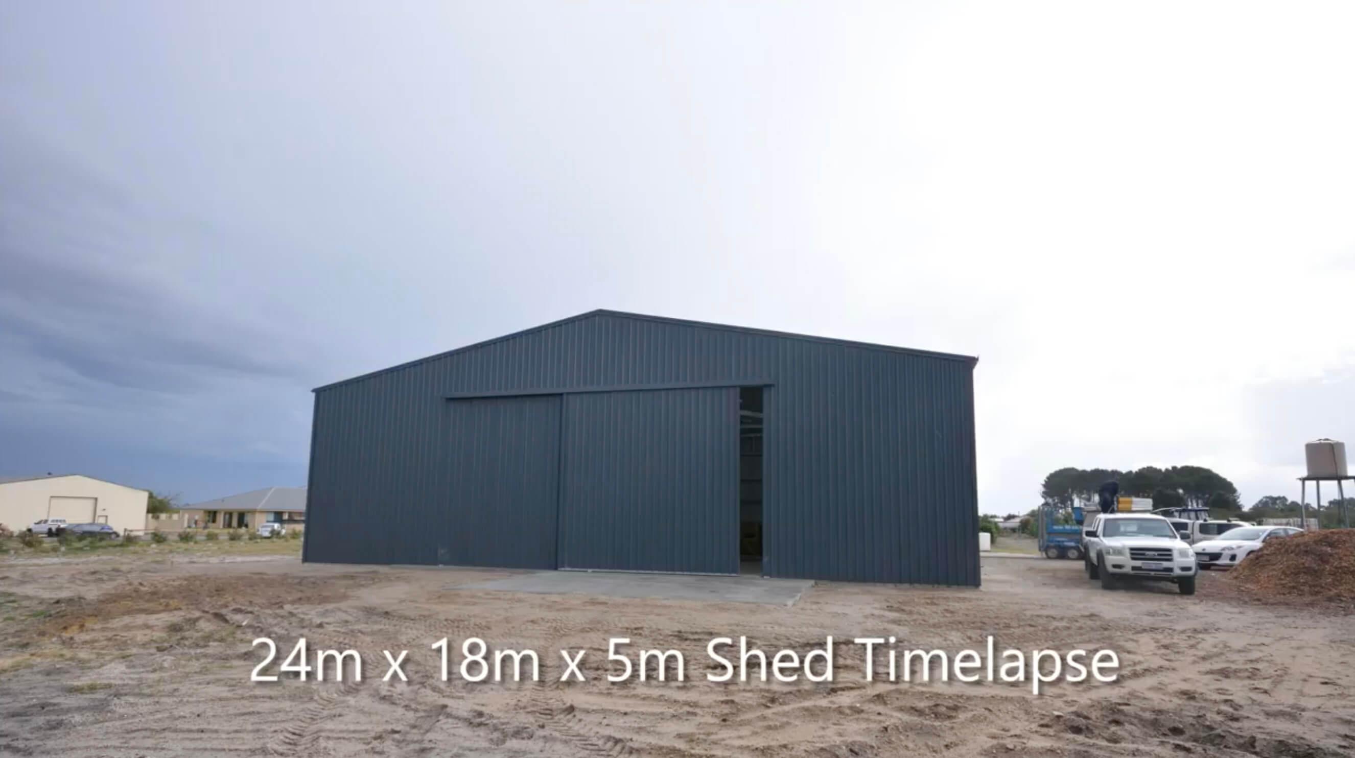 24m x 18m x 5m SHED in Australia - BDN Fasteners built using steel stud framing screws 3