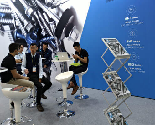 BDN Fasteners Taiwan steel screw manufacturers Demo center for 2018 Construction Exhibitions 6