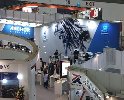 BDN Fasteners Taiwan steel screw manufacturers Demo center for 2018 Construction Exhibitions 4