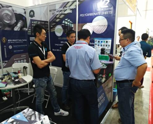 BDN Fasteners self drilling metal screws Demo Center MYANBUILD 2018 Exhibition 1