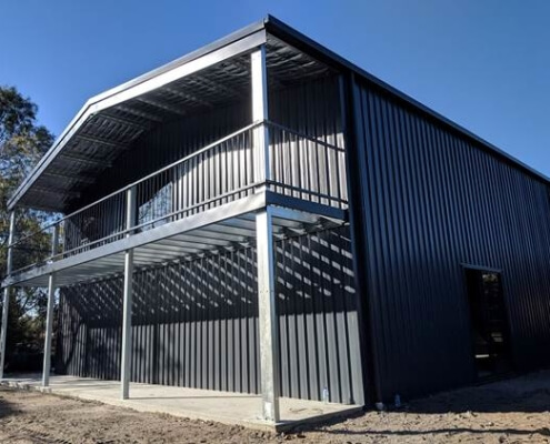 Metal Warehouse structure secured by BDN Fasteners Steel stud framing screws