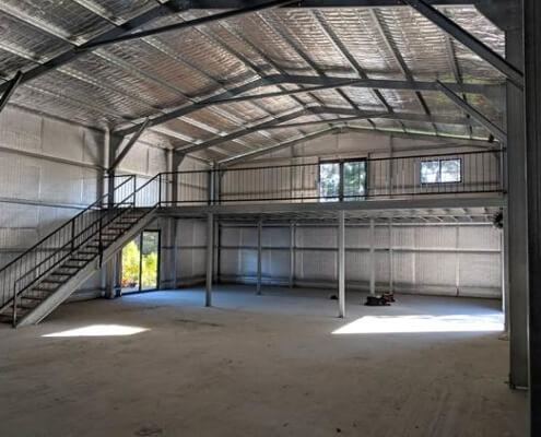 Interior Metal Shed Construction project by BDN Fastneers steel stud framing screws 3