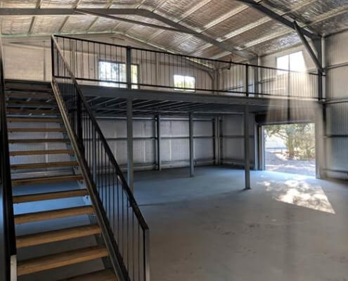 Interior Metal Shed Construction project by BDN Fastneers steel stud framing screws 1