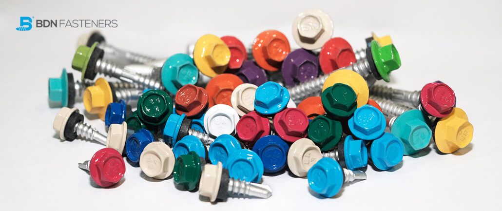 BDN FASTENERS® Color-Tite™ Colored Roofing Screw