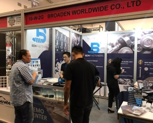 INDOBUILD 2019 Expo BDN Fasteners demo center for timber roofing screws 4