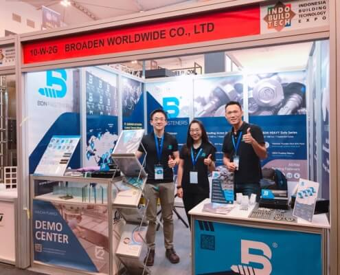 INDOBUILD 2019 Expo BDN Fasteners demo center for timber roofing screws 2