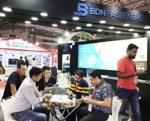 BDN Fasteners 2019 India Construction Expo Demo Center 9