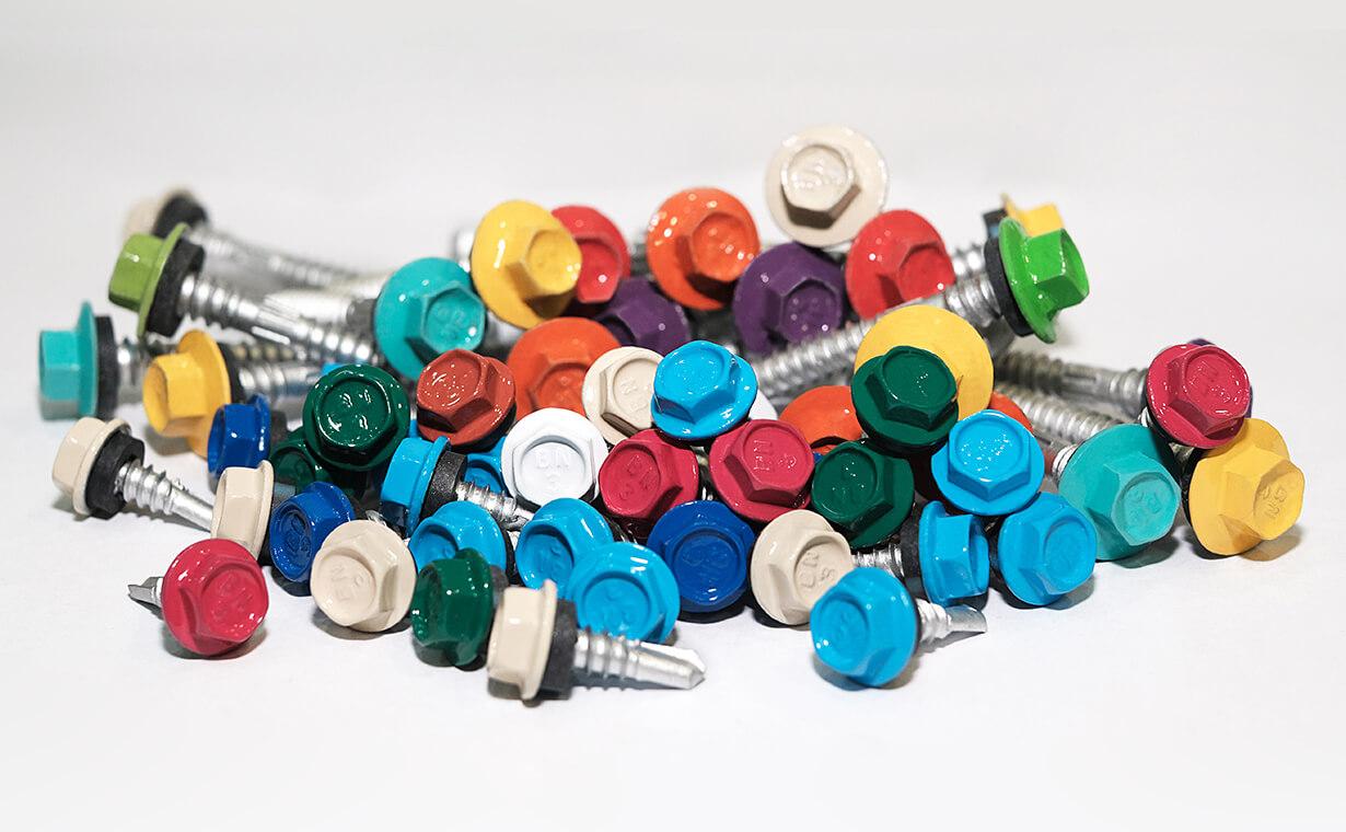 colored screws