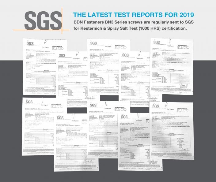 BDN FASTENERS® Roofing Screws SGS Certified