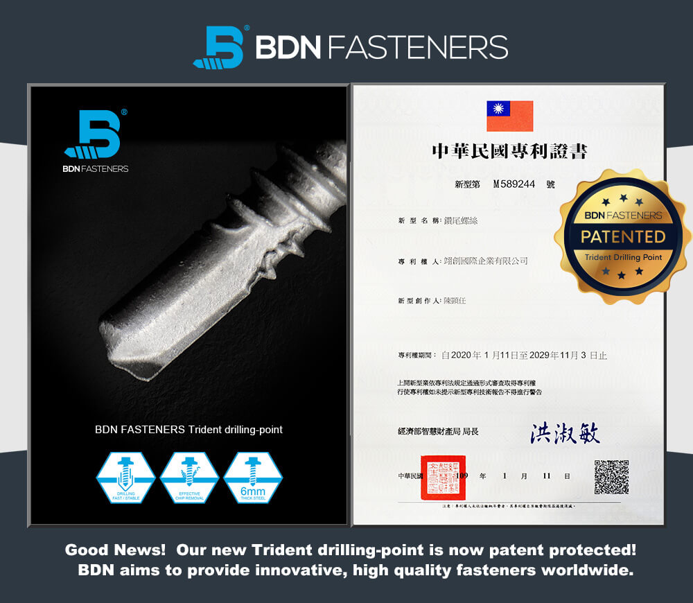 BDN FASTENERS® PATENTED