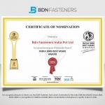 India 5000 Best MSME Award 2020 – BDN FASTENERS