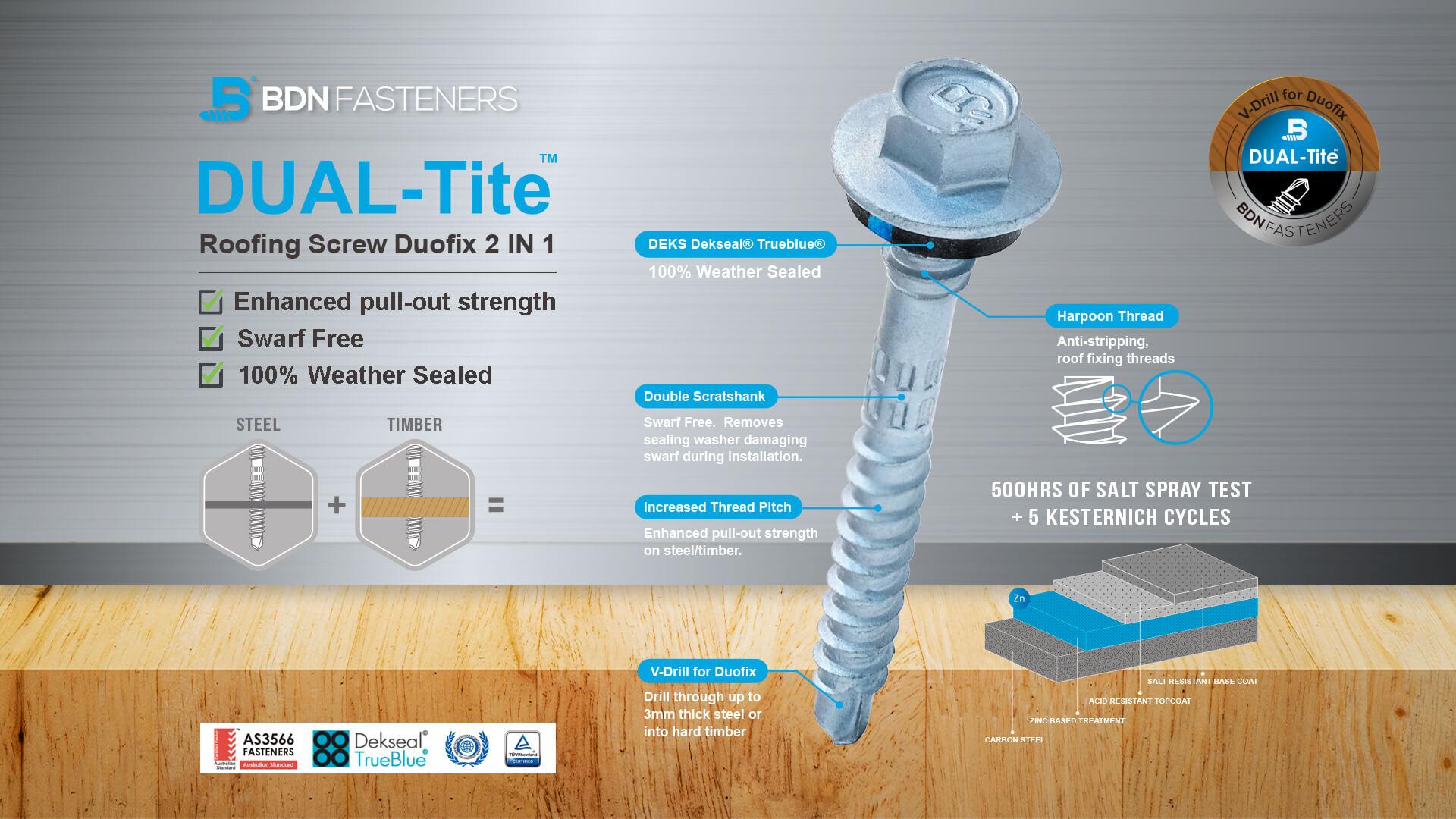 DUAL-Tite™ - Timber and light metal Self-Drilling Screws