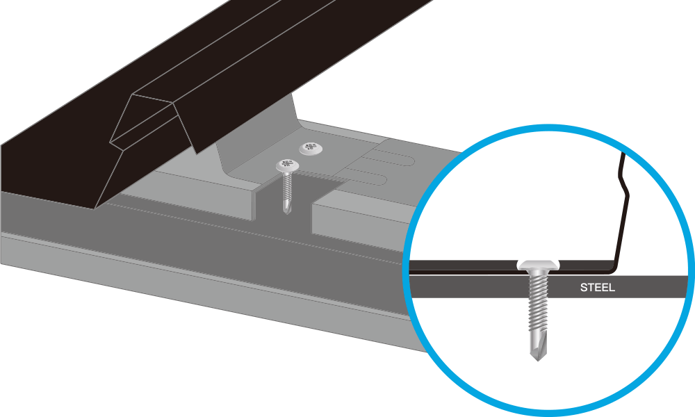Self drilling for steel - Concealed Fixing Fasteners