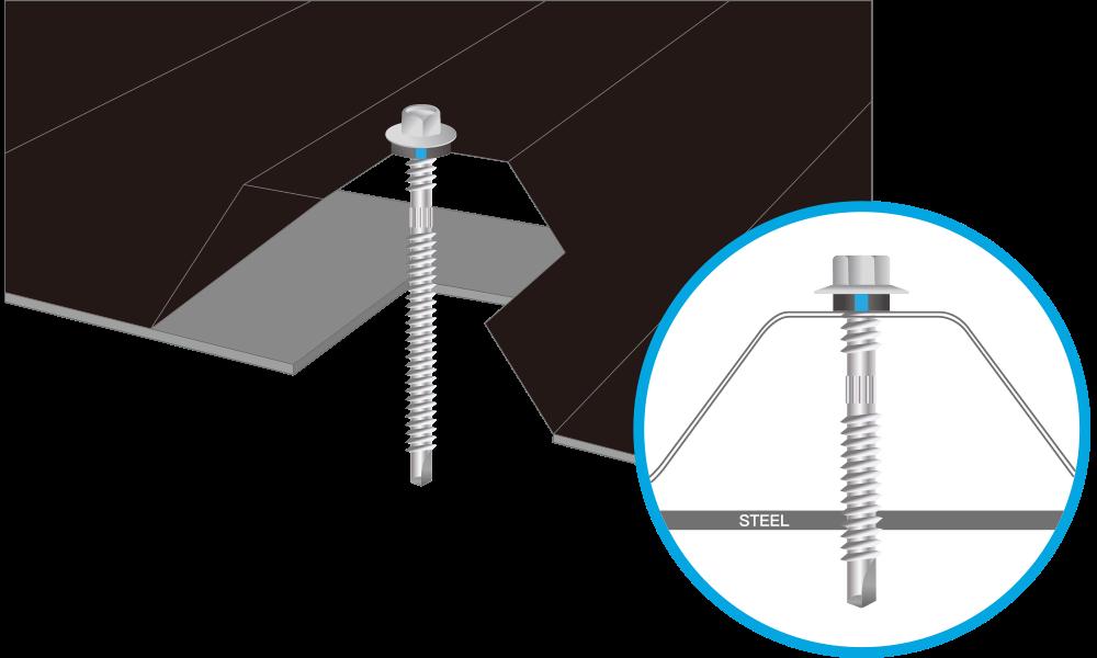 Tek screws for steel - Sandwich Panel Screw