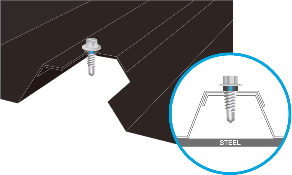 Self drilling for steel - Stitching Fasteners