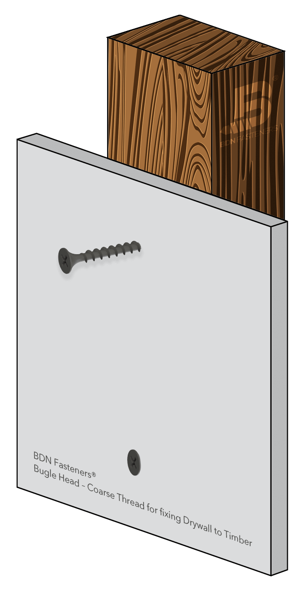 BDN Collated Screws - Bugle Head – Coarse Thread for fixing Drywall to Timber(Application)