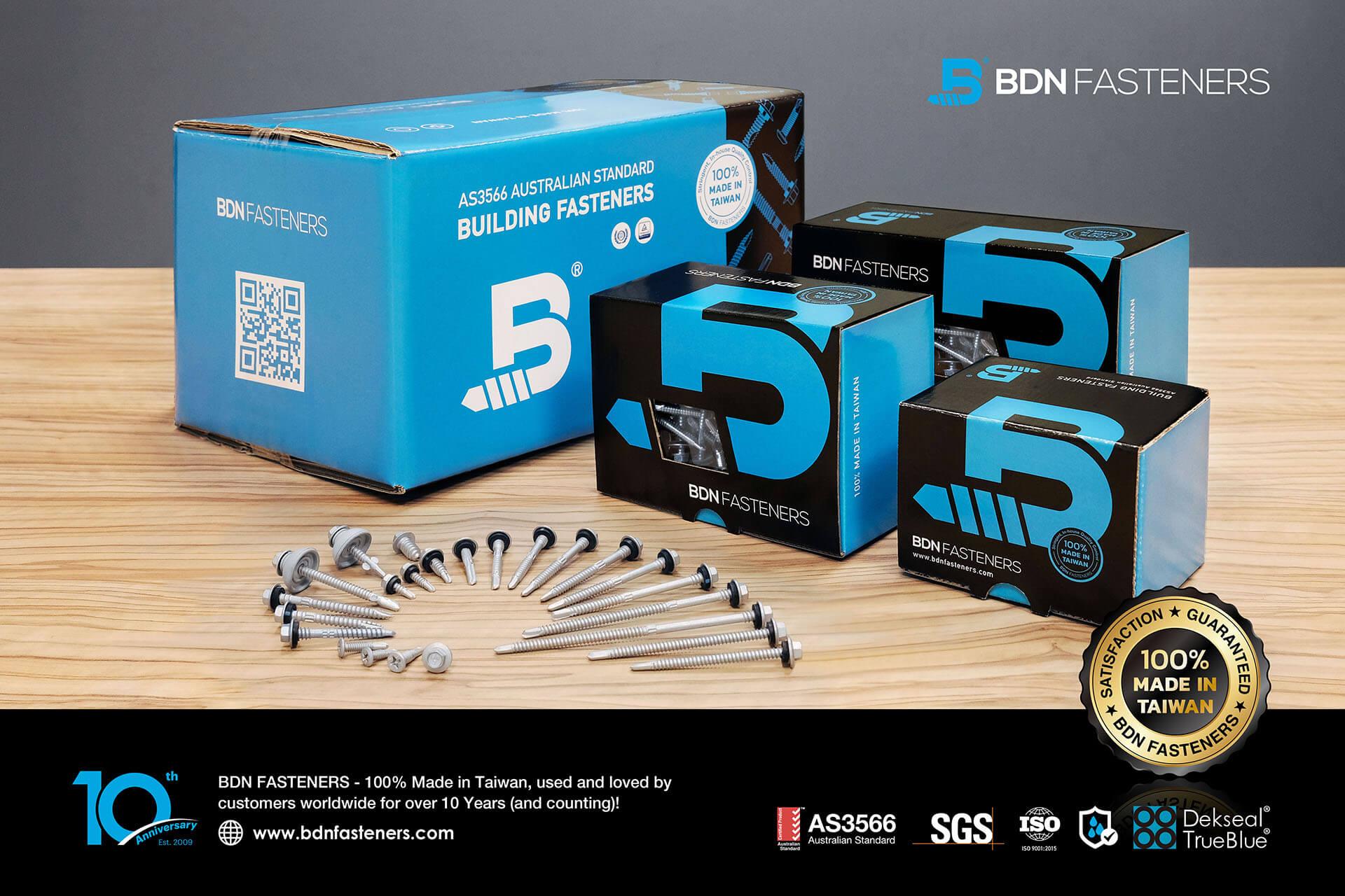 Self Drilling Metal Roofing Screws-BDN Fasteners-Made in Taiwan